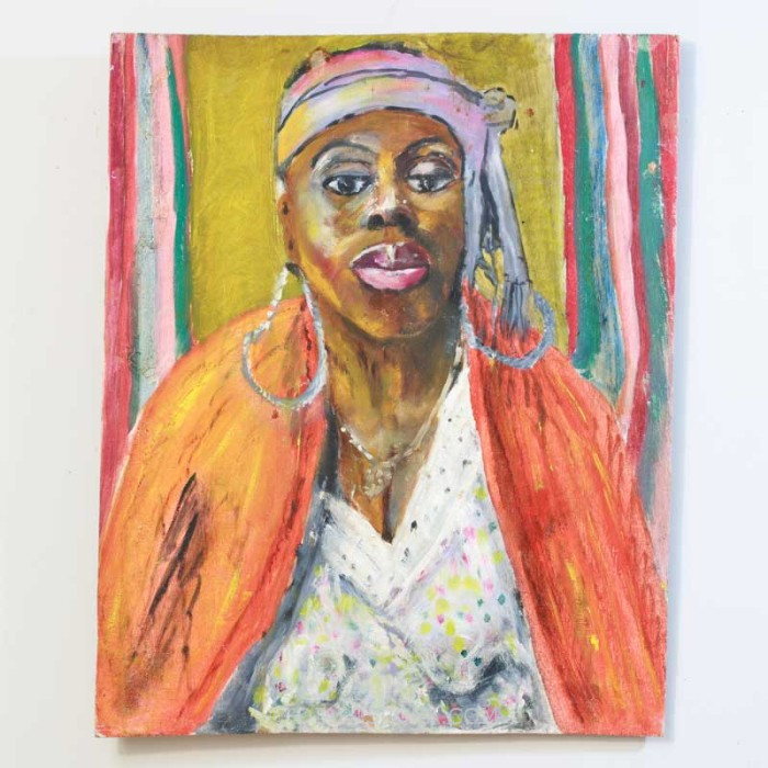 Woman with Orange Shawl