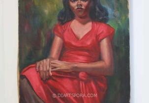 Red Dress Girl, artist unknown