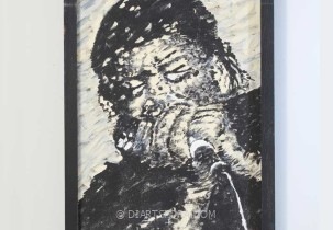 Harmonica Player James Cotton, signed M.S.
