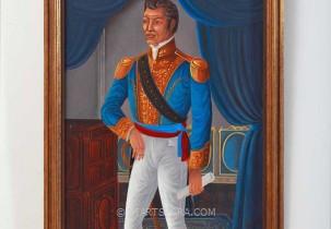 Blue General Portrait by St. Louis Blaise