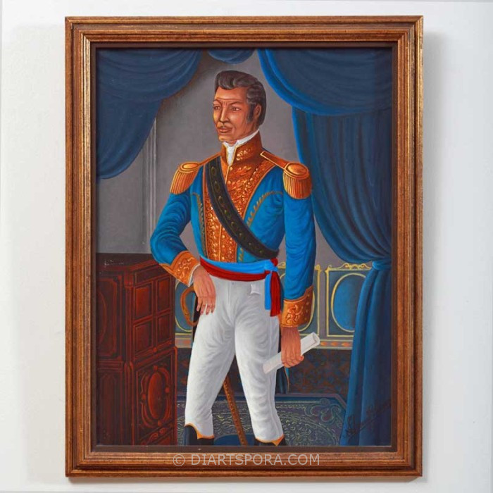 Blue General Portrait by St. Louis Blaise