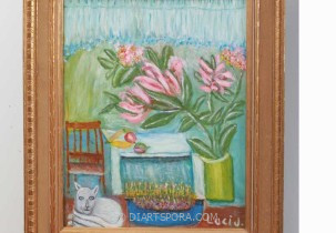 Cat and Hearth by Lucinda Johnson)