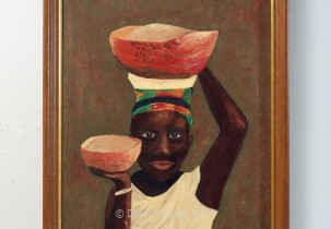 Boy with Bowls by M.T.T.