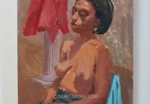 Half Nude Woman Study