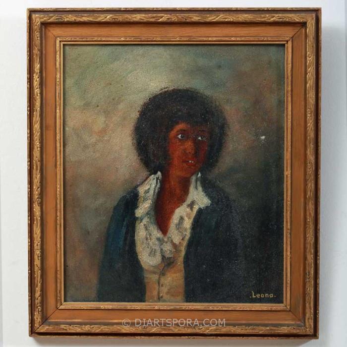 Portrait - Startled Woman by LEONA