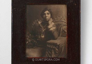 Dressed-up Woman in Chair Photograph