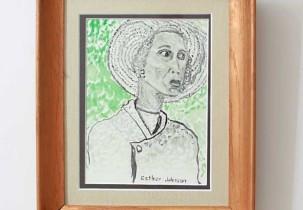 Woman Wearing Bonnet by Esther Johnson