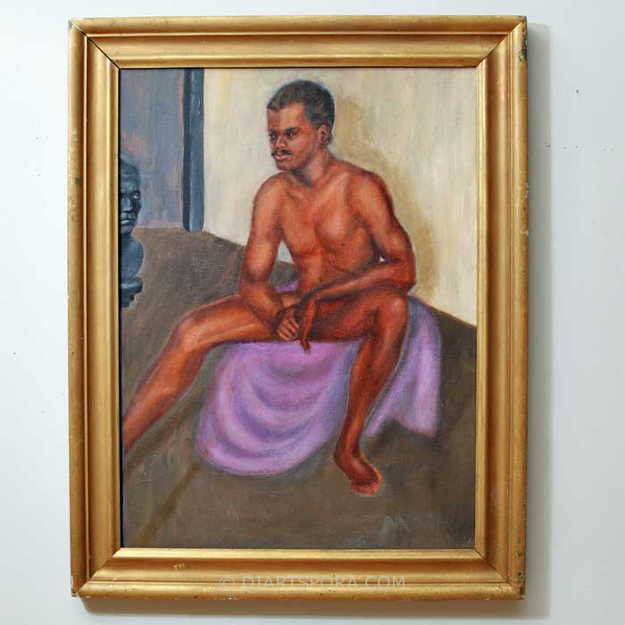 Nude Man With Bust