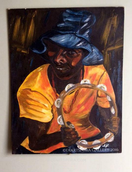 Tambourine Man Painting