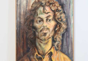 Long Hair Man by Albert Weiss, painting