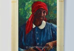 Red Head Dress Woman