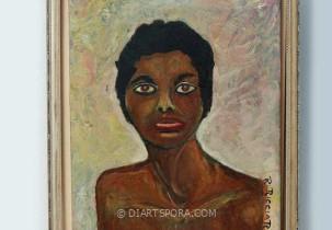 Staring Woman by R. Riccardi