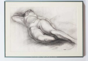 Nude Woman Laying Down by Munro