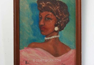 Roz Portrait (Lady with Pearls) by Ricky Price