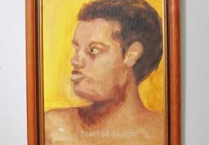 Staring Boy (yellow background)