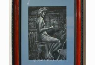 Nude with Mirror by Doris Watson
